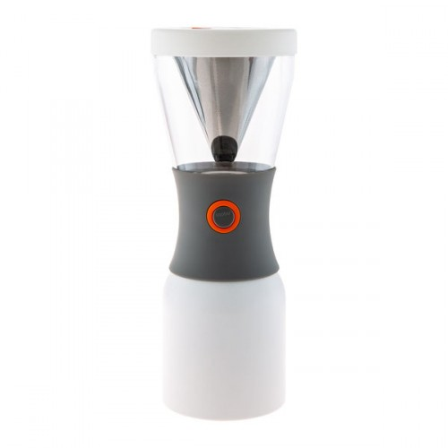 Asobu - Cold Brew Insulated Portable Brewer - Stainless Steel White